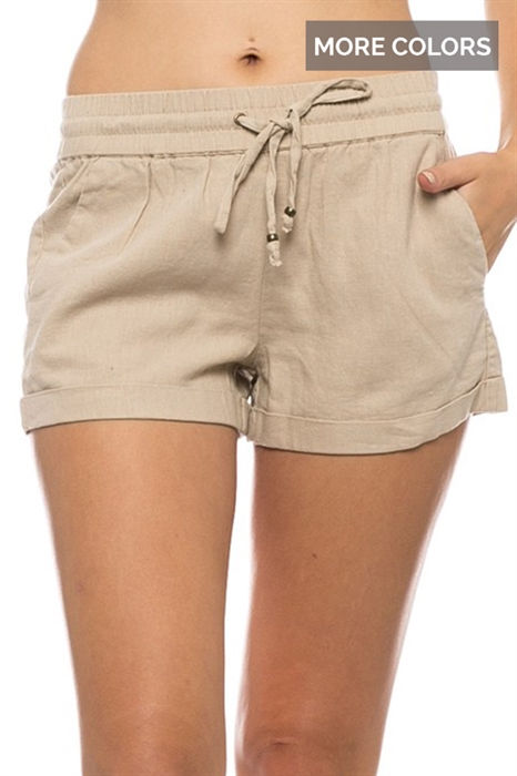 Picture of Drawstring Linen Shorts