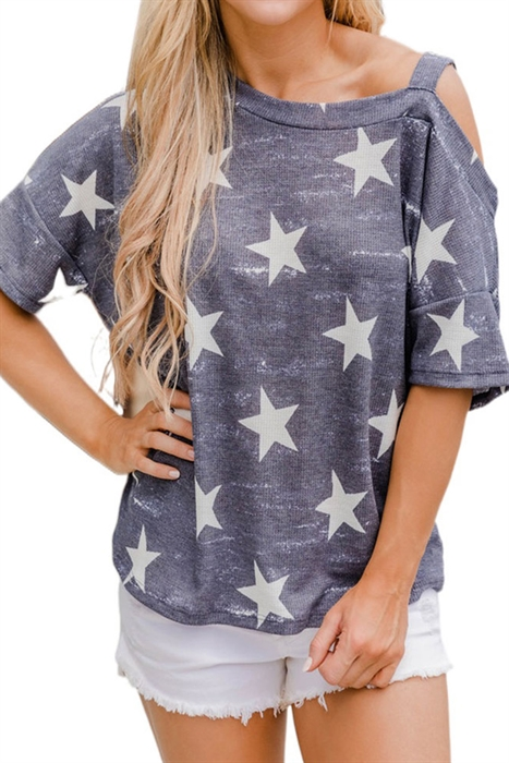 Picture of Starry Cold Shoulder Top