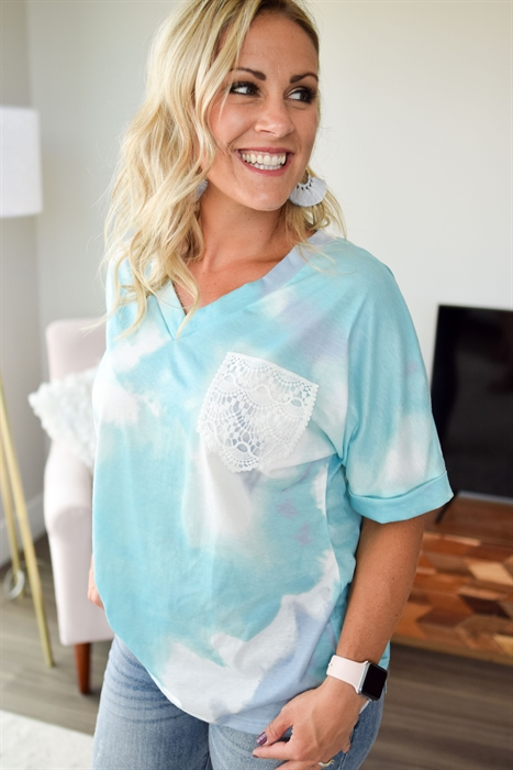 Picture of Love Everyday Crochet Pocket Top