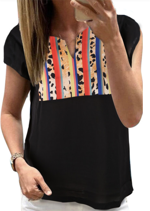 Picture of Striped Leopard Top