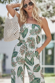 Picture of Tropical Dreams Strapless Jumpsuit